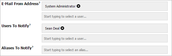 Type-Ahead User Fields Screenshot